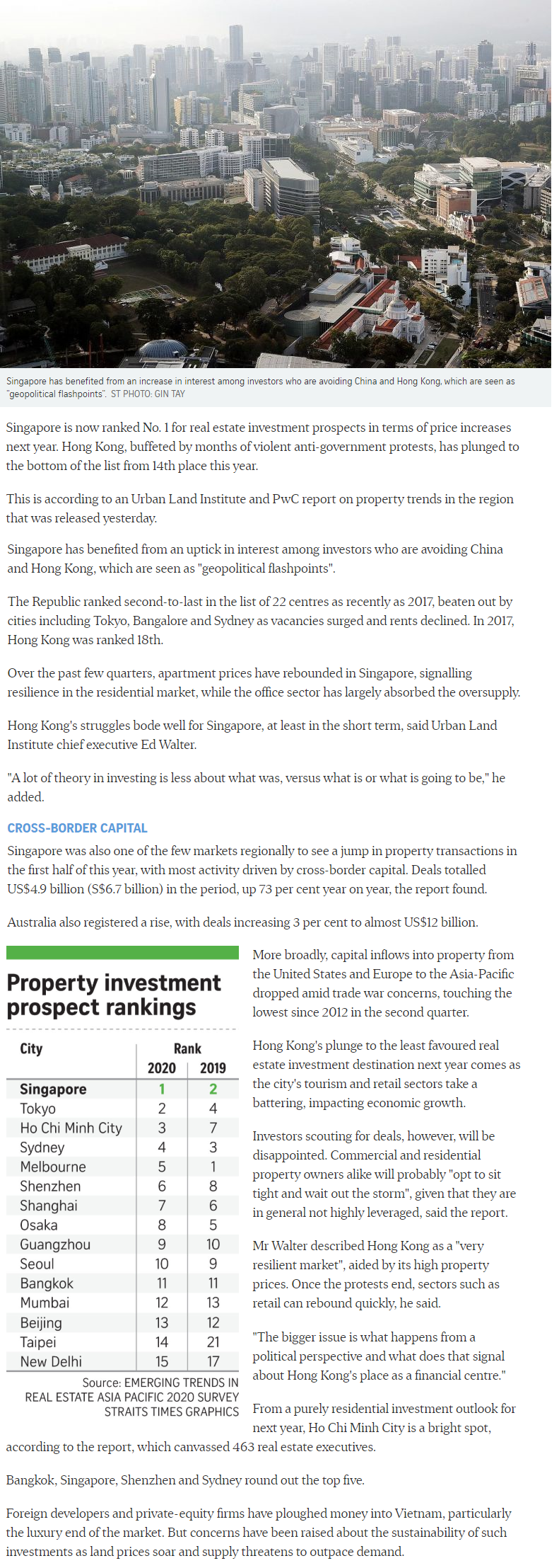 Klimt Cairnhill - Singapore Tops Region For Property Investment Prospects