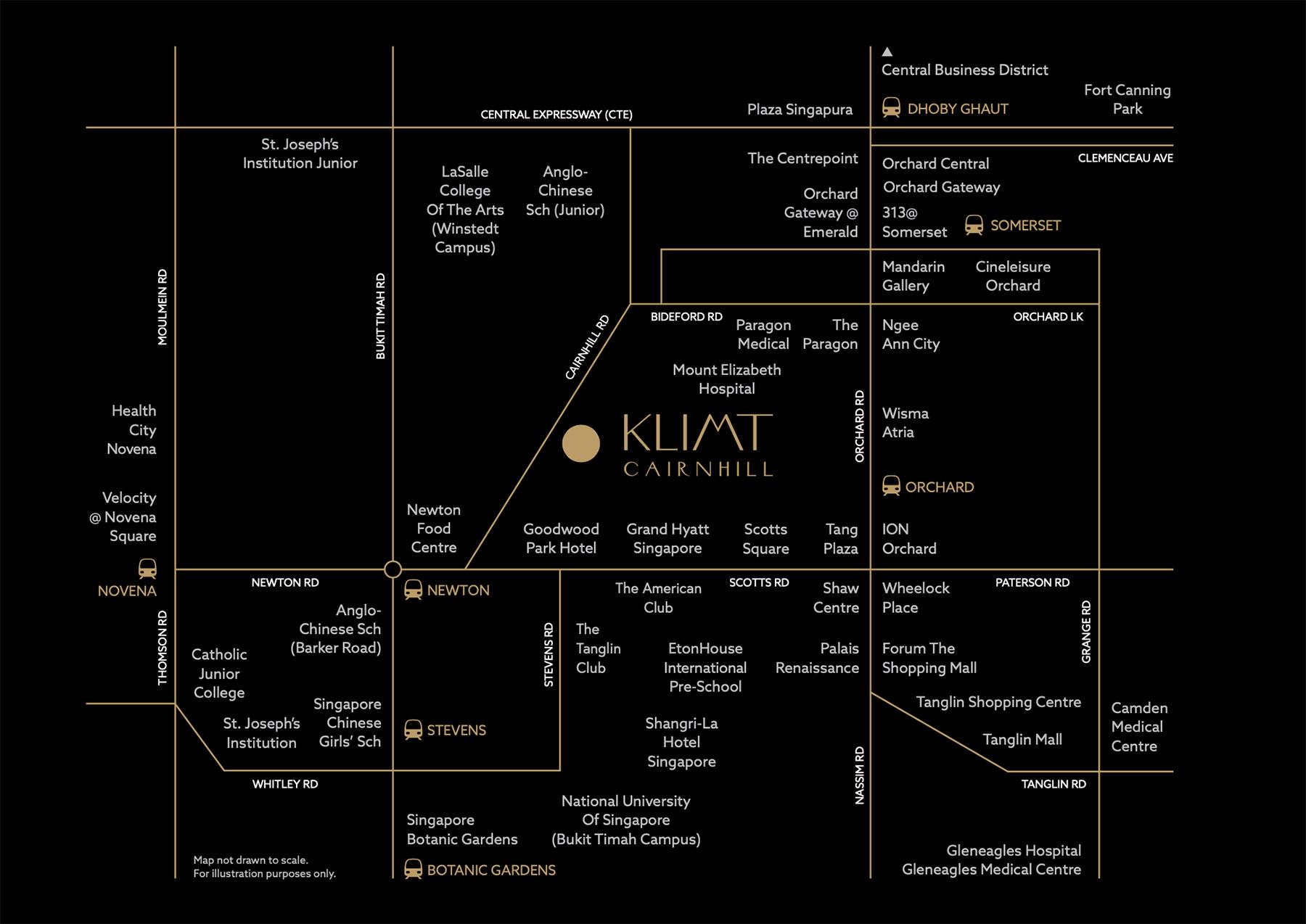 Klimt Cairnhill Location Map Full