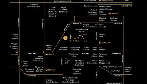 Klimt Cairnhill Location Map Thumbnail